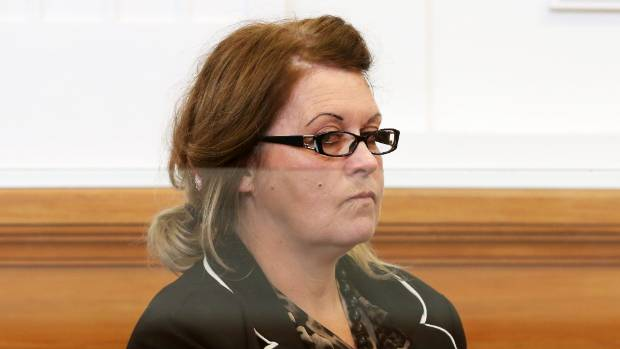 Donella Knox is sentenced at the High Court in Blenheim.