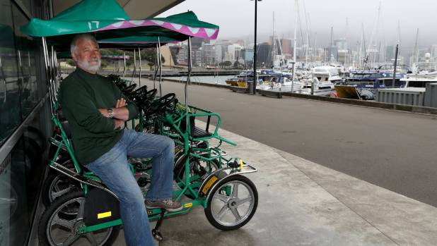 Tony Christie, owner of Crocodile Bikes, has suffered from a particularly poor summer in Wellington so far.