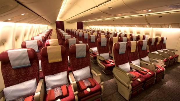 The Economy Class On Qatar Airways Boeing 777 200LR Aircraft