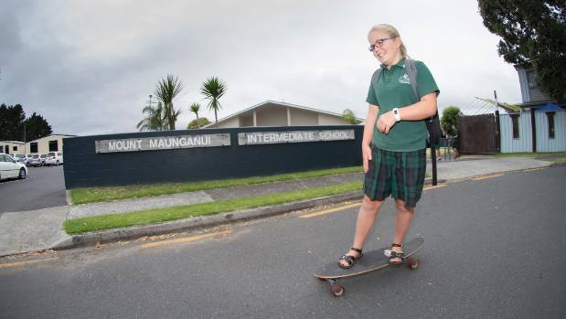 Mt Maunganui Intermediate School is at the forefront of a trend to get rid of skirts and dresses entirely - uniforms ...