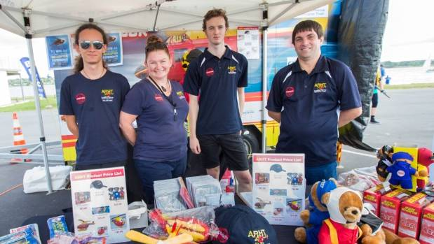 Some of the Westpac Rescue Helicopter crew at last year's Tamaki River Festival.