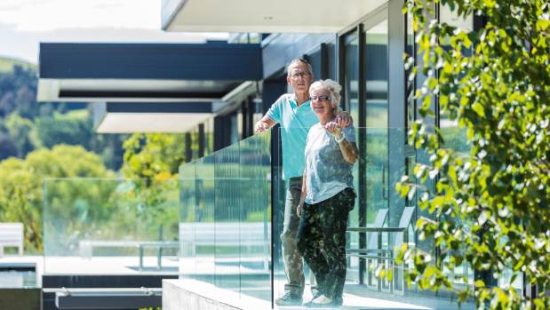 Robyn and Peter Ireland enjoy the sun and views from every corner of their home.