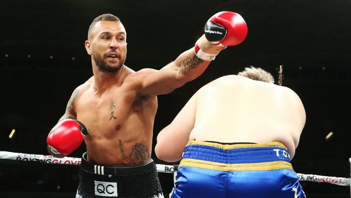 Quade Cooper, Tim Tszyu win boxing bouts on Mundine-Green ...