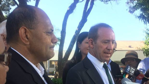 Andrew Little announced Willie Jackson (left) will stand for Labour.