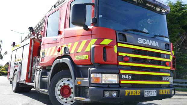 Three fire crews are at the scene of a house fire on Thames Coast Rd, at Waiomu.