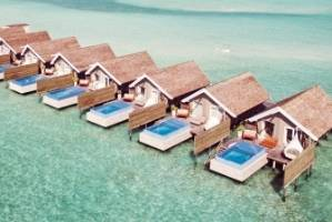 The luxurious overwater villas at Lux South Ari Atoll.