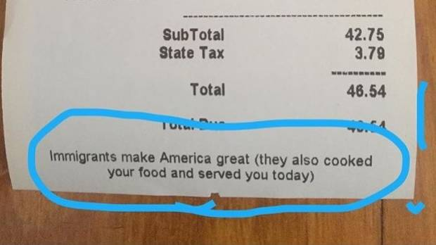 'Top Chef' prints pro-immigrant message on receipts