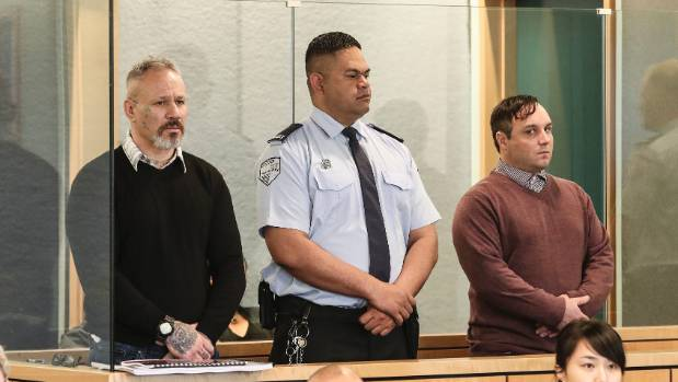Appearing at the High Court at Auckland: Michael Joseph Davies (left) and Steven Gunbie (right).