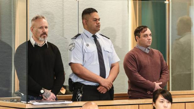 Michael Joseph Waipouri, left, and Steven Gunbie, right, are on trial in the High Court at Auckland.