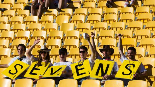 Empty yellow seats were the feature of this year's Wellington Sevens.