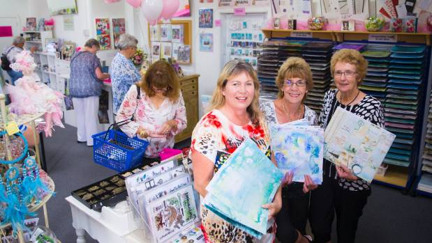 Paperzone, an independent arts and crafts store, has reopened after closing down to revitalise the store. From left, ...