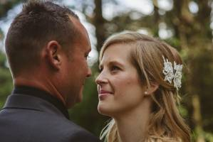 The look of love: Kirsty and Wes share a special moment.
