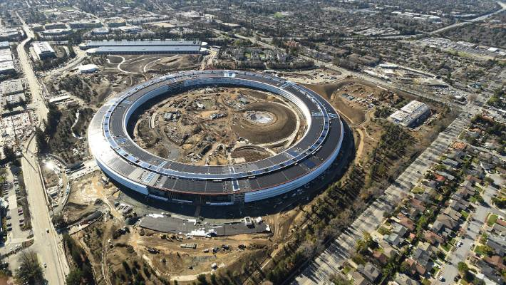The Apple building is seen under construction in Cupertino, California in this aerial photo taken January 13, 2017.