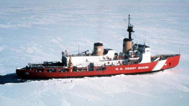 United States Coast Guard Heavy Icebreaker Polar Star is shown in this undated photo in Antarctica. The ship will make a ...