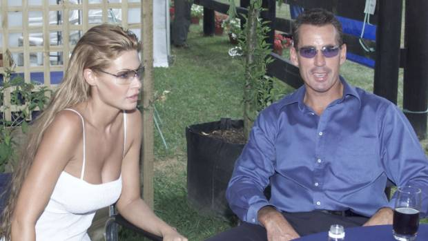 Watson with former wife Nicky Watson at the Karaka horse sales in 2002.