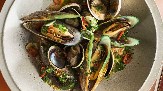 recipe clam mussel pot with chilli garlic butter toasted couscous stuff co nz