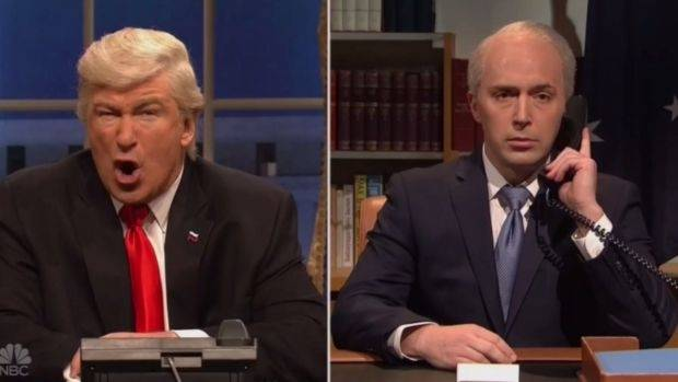 Alec Baldwin recreating Trump's brutal phone call with Malcolm Turnbull.