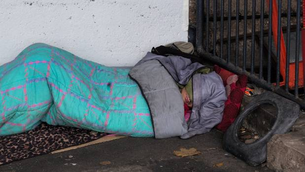 Napier City Council says it will trespass rough sleepers found in store doorways if shopkeepers ask it to. (File photo)