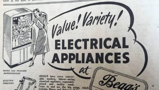 Advertisement from 1950 Kapi-Mana News.