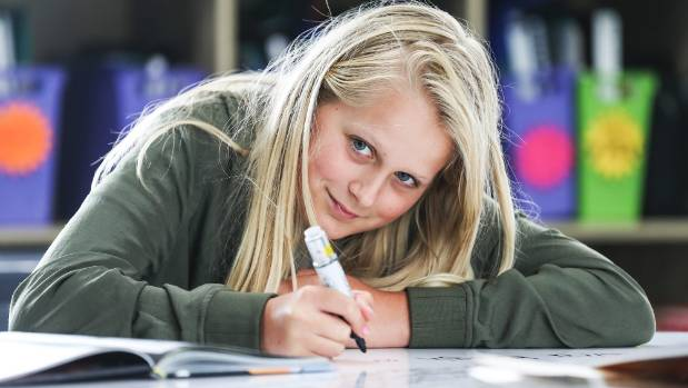 Isabel Robinson was previously in a classroom with 90 students: she finds it much easier to concentrate and get ...