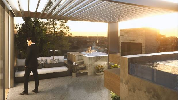 The penthouses will sell for about $5 million, if buyers want the outdoor areas and car parks.