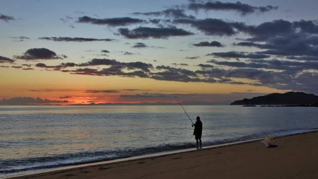 Sunrise in the Abel Tasman National Park.