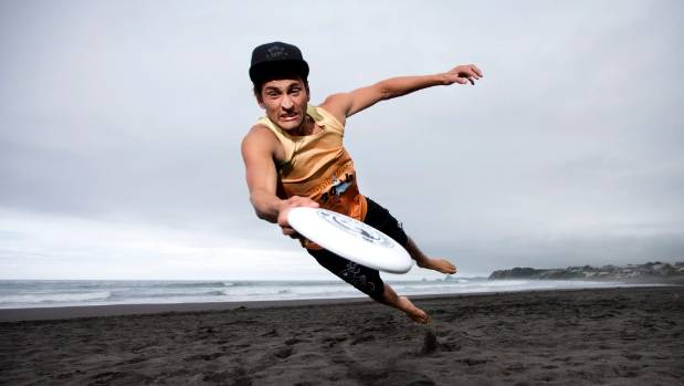 JANUARY 31: Oakura Classic ultimate frisbee competition organiser John Fernando gets in some early practice in Taranaki. ...