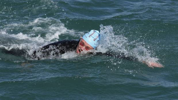 Fraser Neill won the latest round of the Port Nelson Sea Swim Series.
