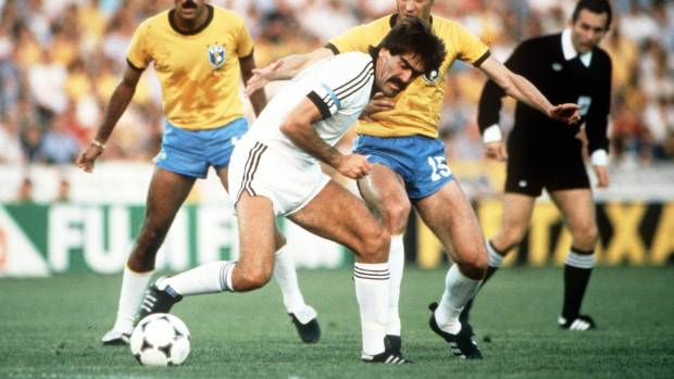Steve Sumner in action against Brazil at the 1982 World Cup finals, in Spain. Sumner died this week after a battle with ...