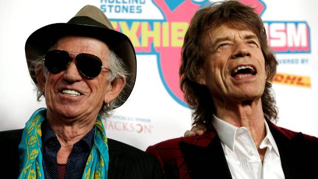 Keith Richards and Mick Jagger of The Rolling Stones pictured in New York in 2016.