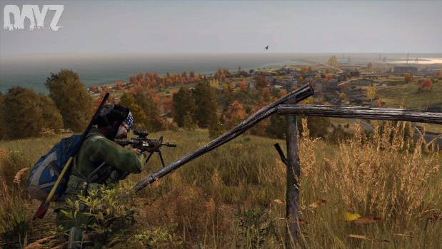 A screenshot from a zombie survival game DayZ, which was developed Dean Hall, who now CEO of Dunedin-based Rocketwerkz.