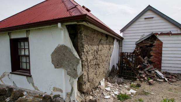 Damage to the historic Cobb Cottage in Waiau in November.