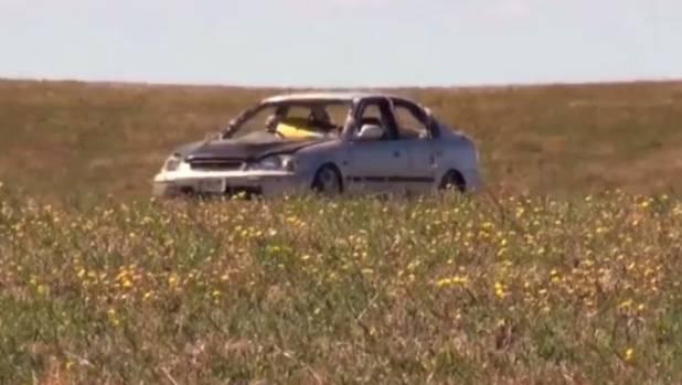 Duncan Heyde's car, pre-explosion.