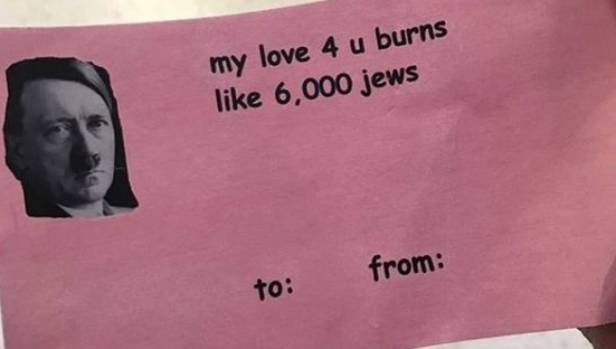 the valentines day card that circulated at central michigan university