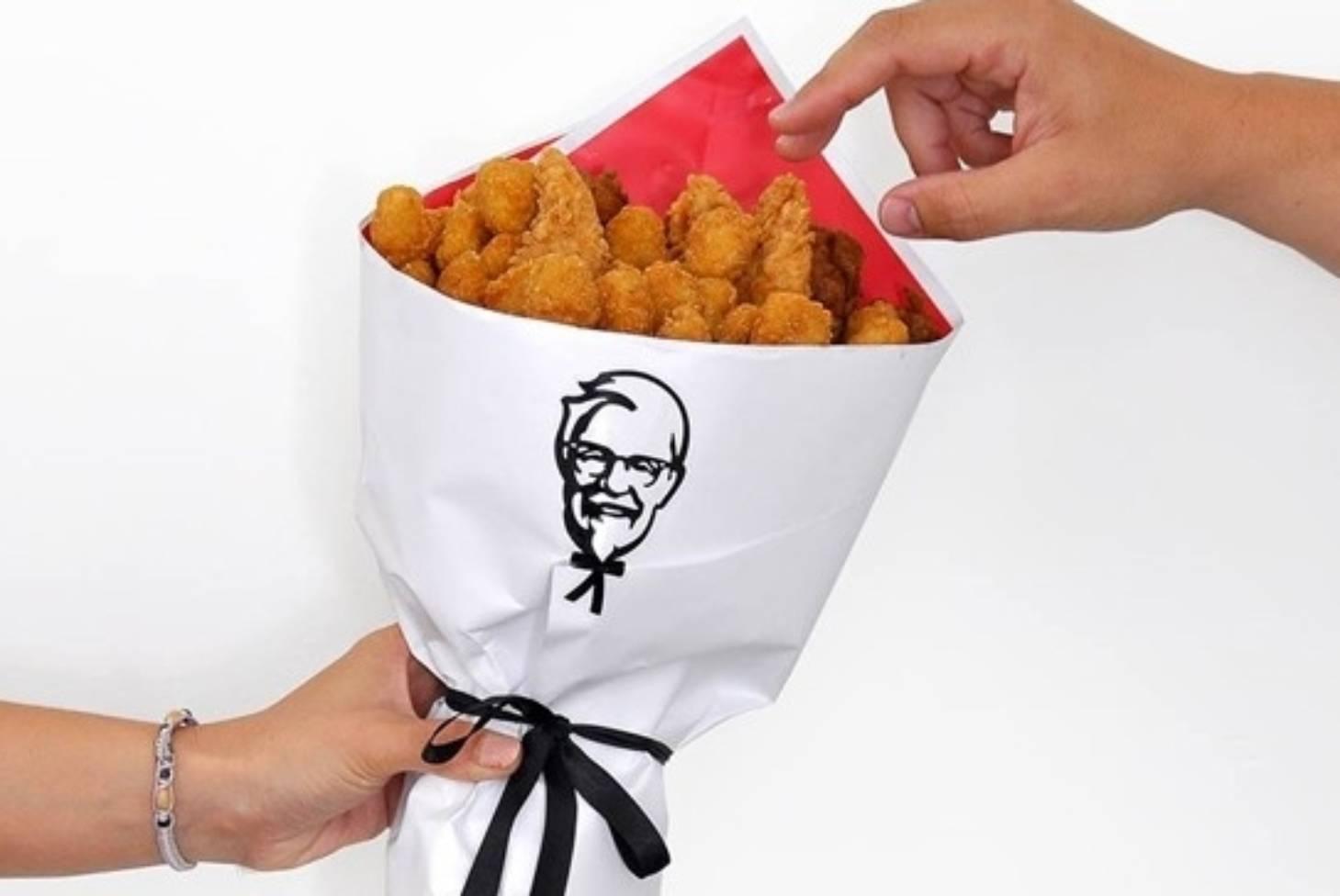KFC\'s novel Valentine\'s Day gift: A bouquet of deep fried chicken ...
