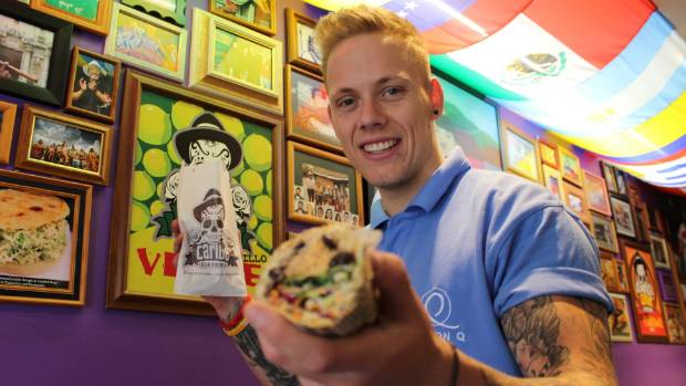 Danny Sykes, 27, is starting a food delivery business in Queenstown.