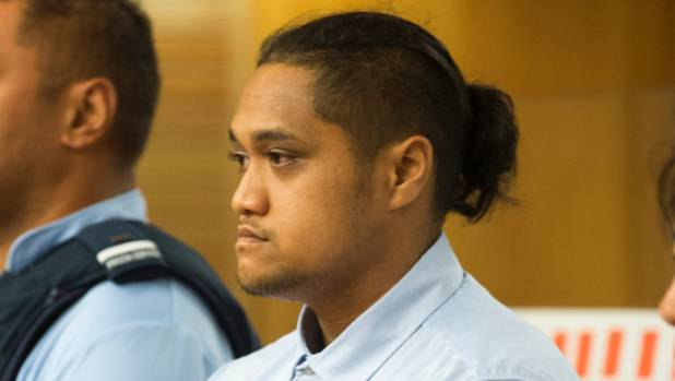 Tamehana Huata, accused of killing two-year-old Matiu Wereta, appearing in the High Court at Napier.