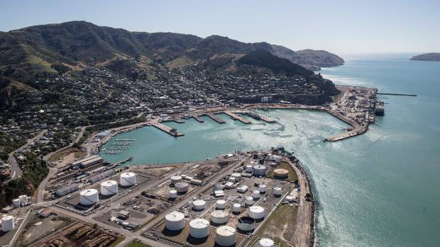 The Port of Lyttelton from above.