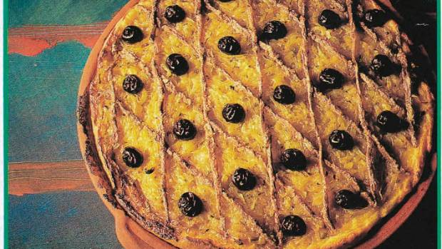 The original pissaladiere from Cuisine issue 34, 1992.