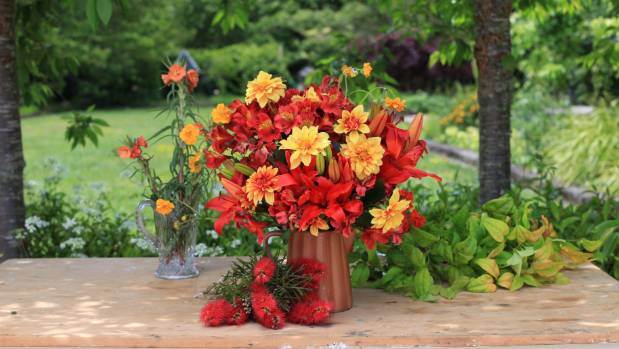 A hot posy full of bright summer stunners.