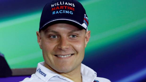 F1 driver Valtteri Bottas of Finland will race for Mercedes in 2017.