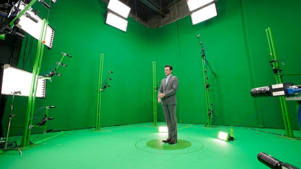 Mad man actor Jon Hamm in the 8i studio in America.