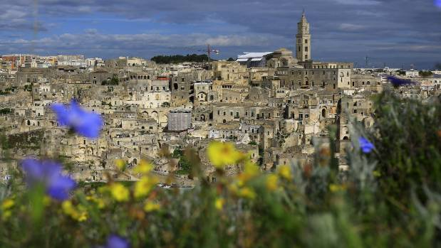 """Sassi"" cave dwellings cascade in gravity-defying fashion in Matera."