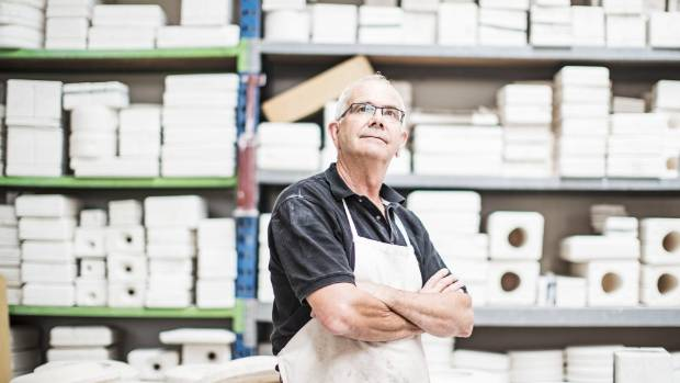 Steiner runs his ceramics business with his wife in west Auckland.