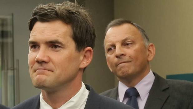 Wellington Mayor Justin Lester, left, and chief resilience officer Mike Mendonca won't give full assurances that the ...