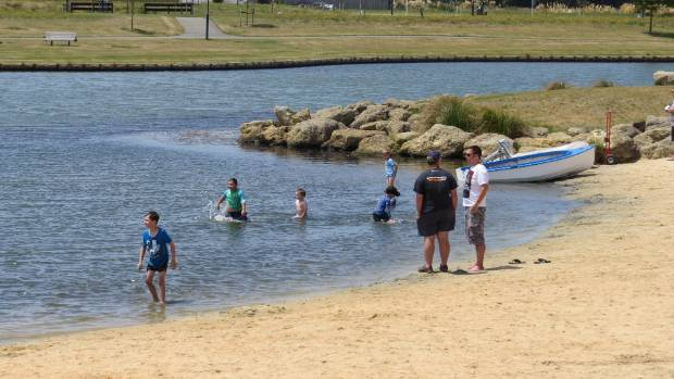 People swimming in the lake early last year.