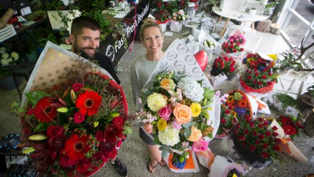 Amy and Ryan Henwood of Hamilton florist, Amy's Flowers, have had a record Valentine's Day this year. To meet demand the ...