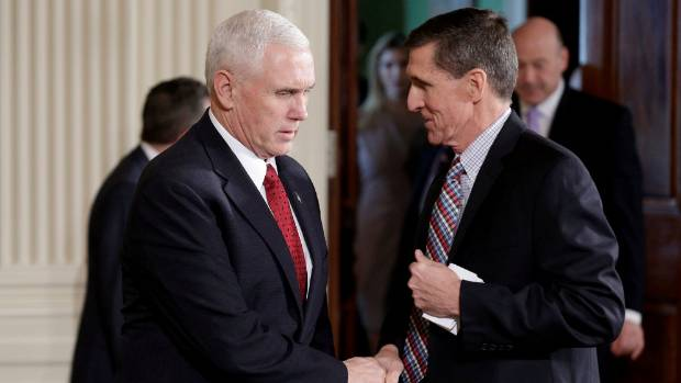 "Flynn said he ""inadvertently"" briefed the Vice President [Mike Pence] and others with incomplete information."