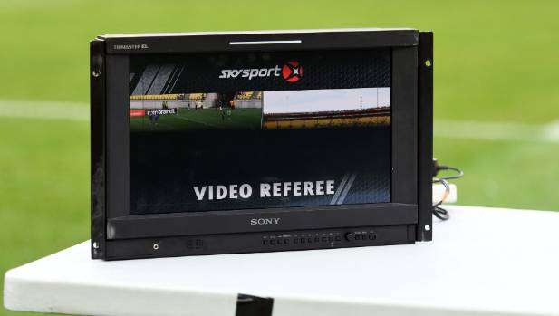 The Video Assisted Referee system in use during the friendly between Wellington Phoenix and Beijing BG.