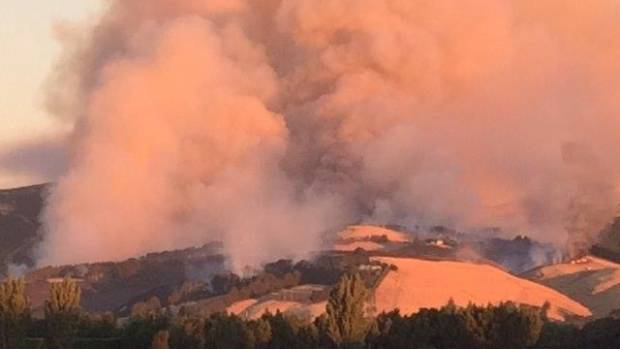Firefighters battle the massive blazes on Christchurch's Port Hills. Would you run towards this, like our firefighters do?